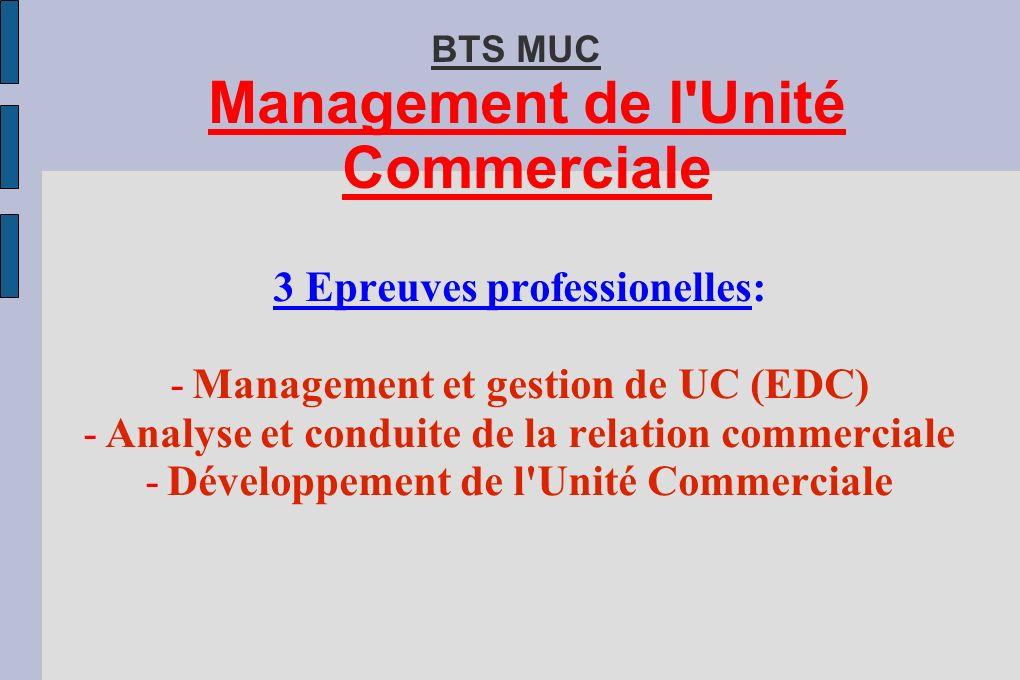 BTS MUC Management de l Unité Commerciale
