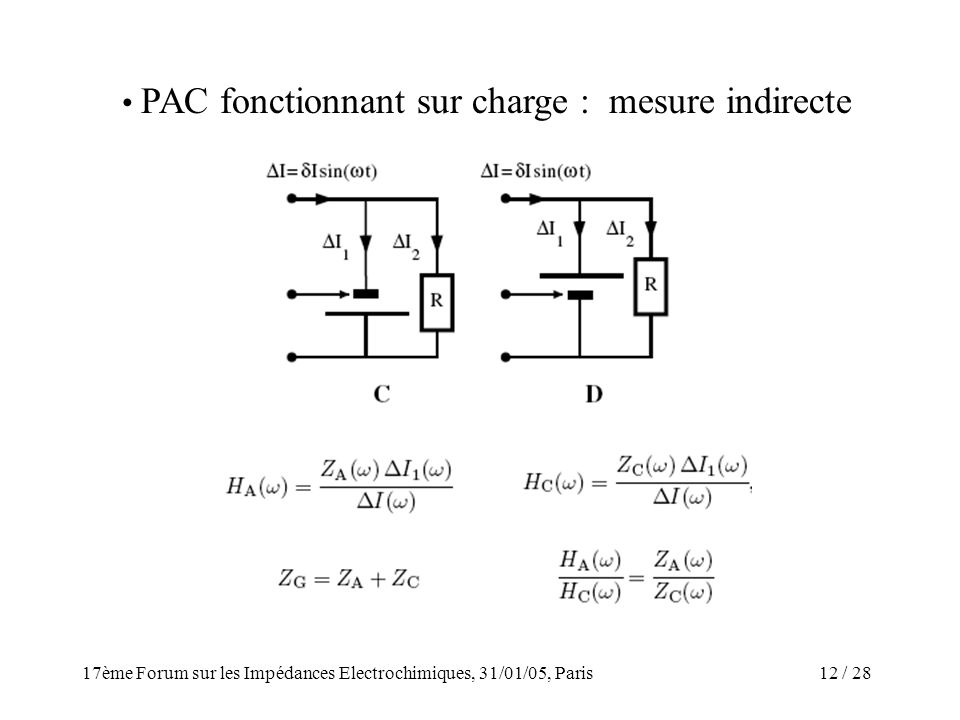 PAC fonctionnant sur charge : mesure indirecte