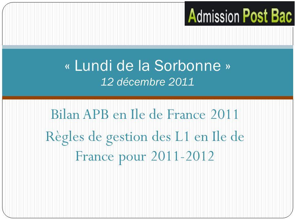 « Lundi de la Sorbonne » 12 décembre 2011