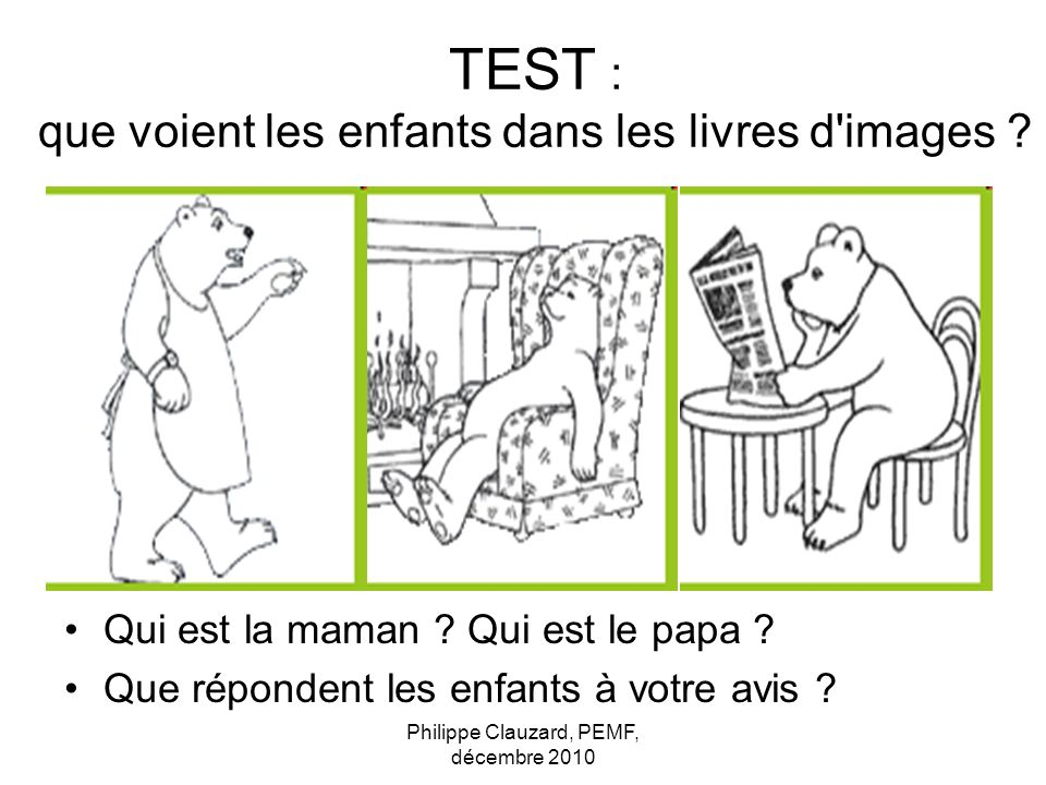 TEST : que voient les enfants dans les livres d images