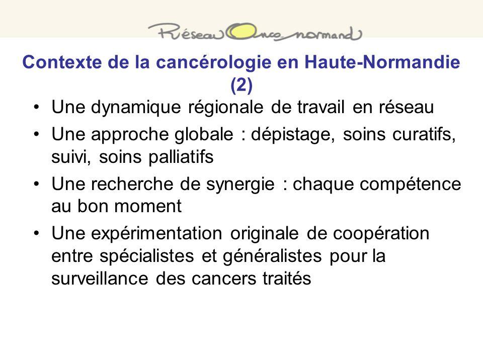 Contexte de la cancérologie en Haute-Normandie (2)