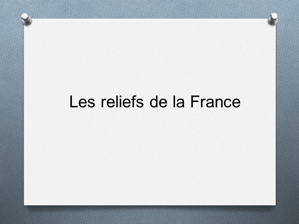 Les reliefs de la France