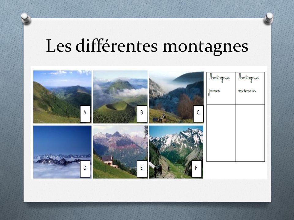 Les différentes montagnes