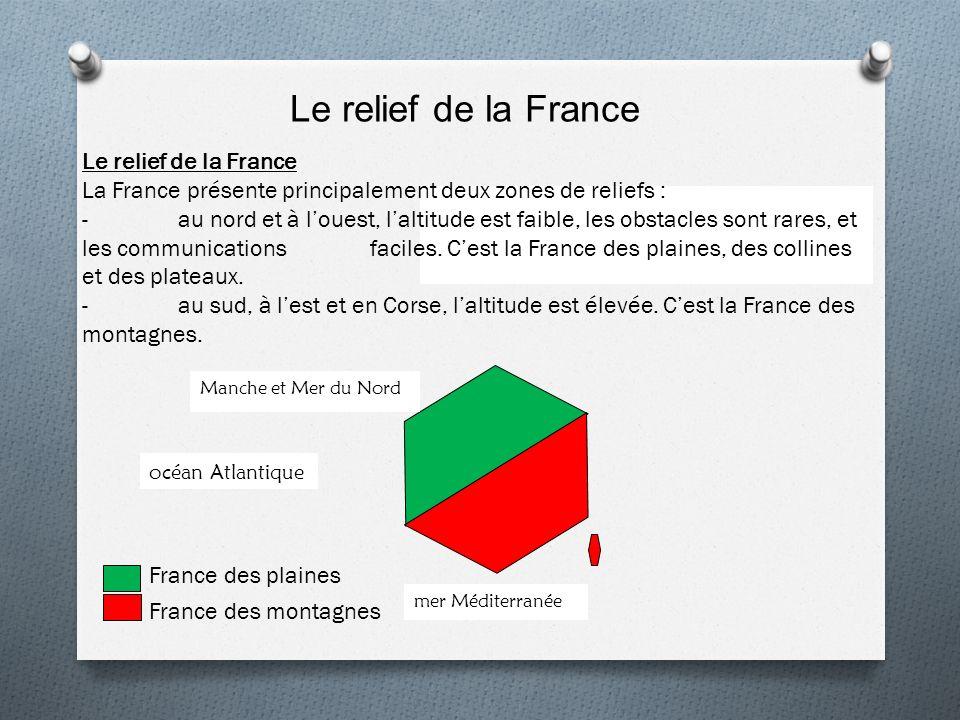 Le relief de la France Le relief de la France