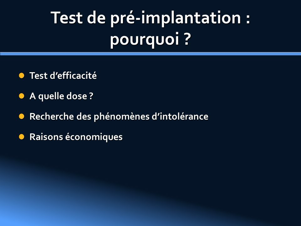 Test de pré-implantation : pourquoi