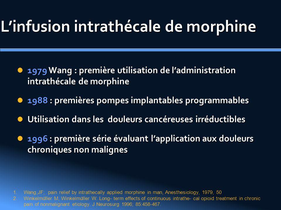 L'infusion intrathécale de morphine