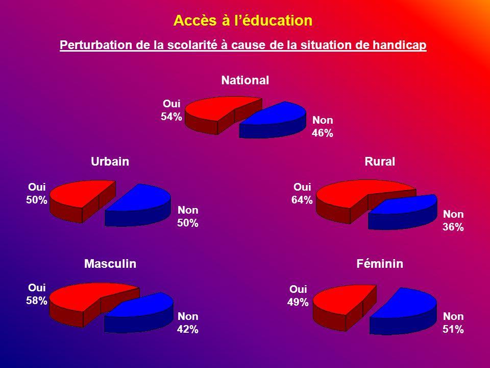 Perturbation de la scolarité à cause de la situation de handicap