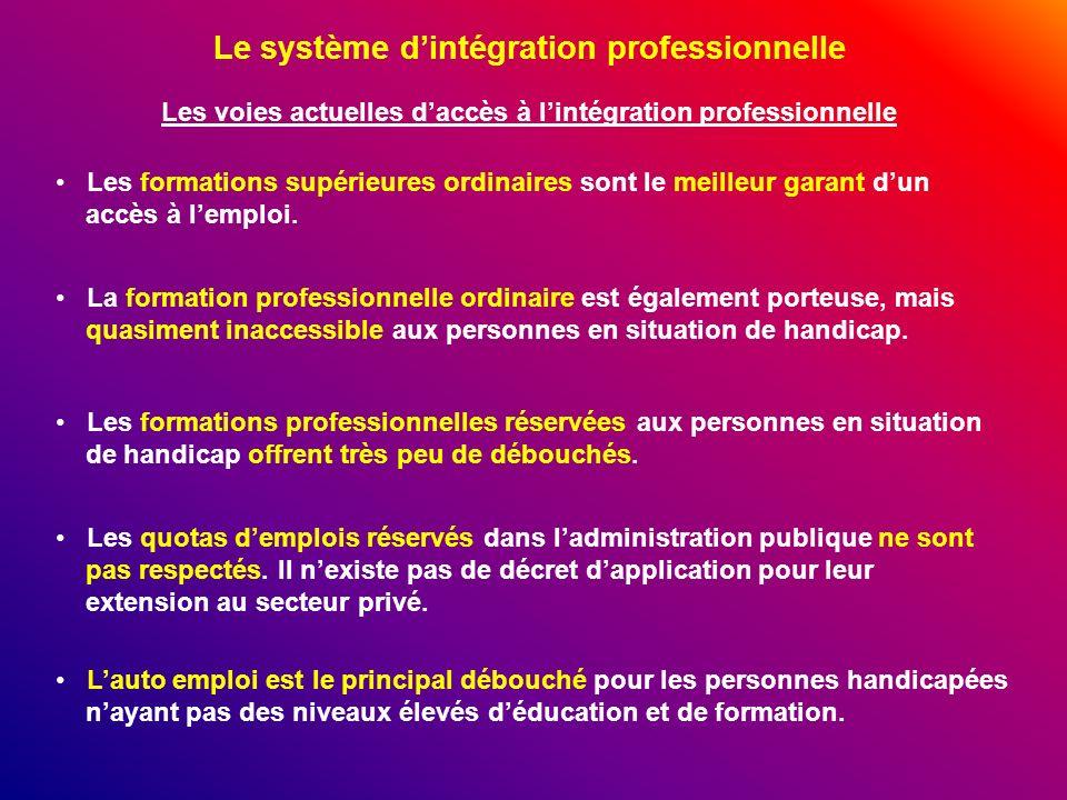 Le système d'intégration professionnelle