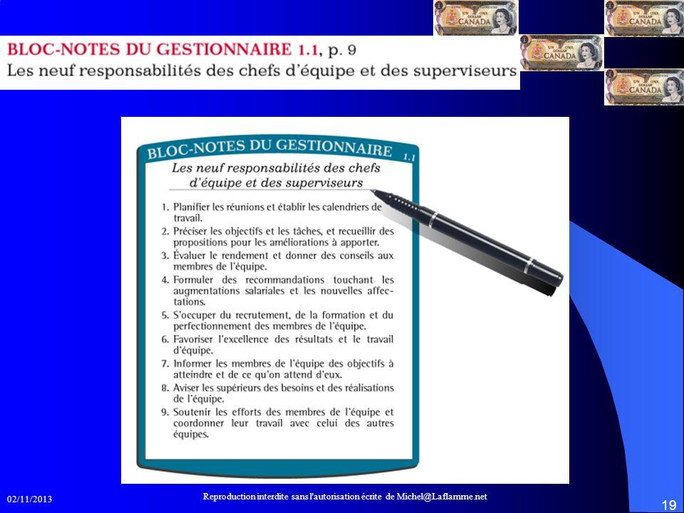 9 responsabilités Reproduction interdite sans l autorisation écrite de Michel@Laflamme.net.