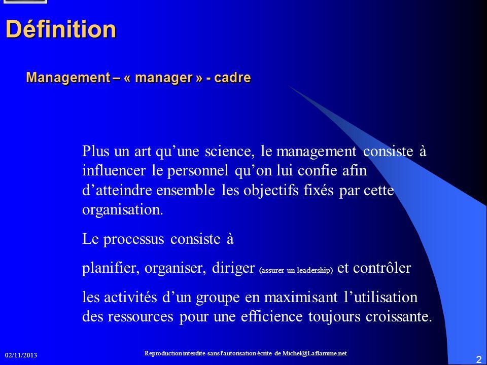 Management – « manager » - cadre