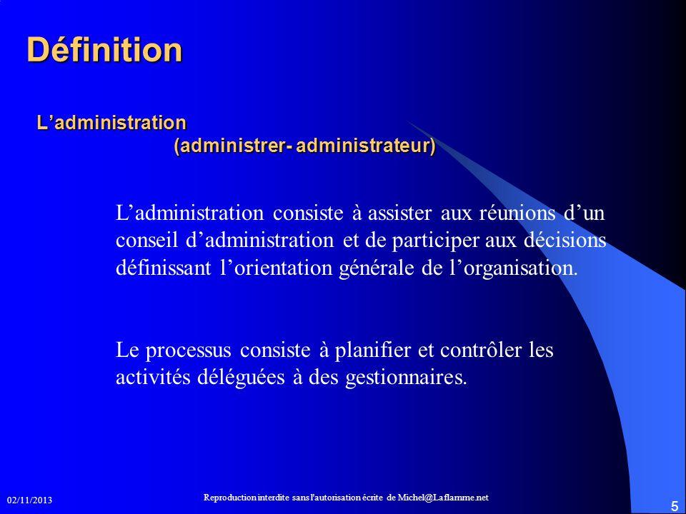 L'administration (administrer- administrateur)