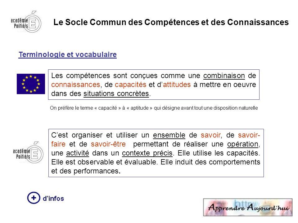 Le Socle Commun des Compétences et des Connaissances