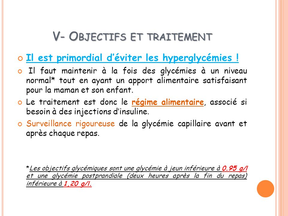 V- Objectifs et traitement