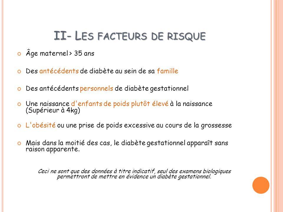 II- Les facteurs de risque