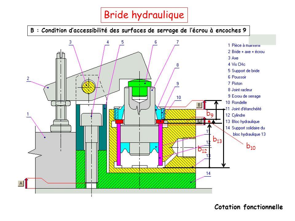 Bride hydraulique b9 b13 b10 b12