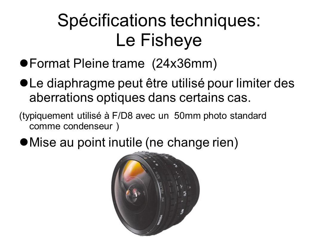 Spécifications techniques: Le Fisheye
