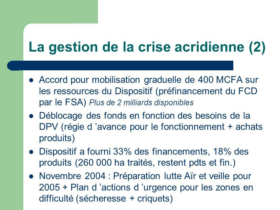 La gestion de la crise acridienne (2)