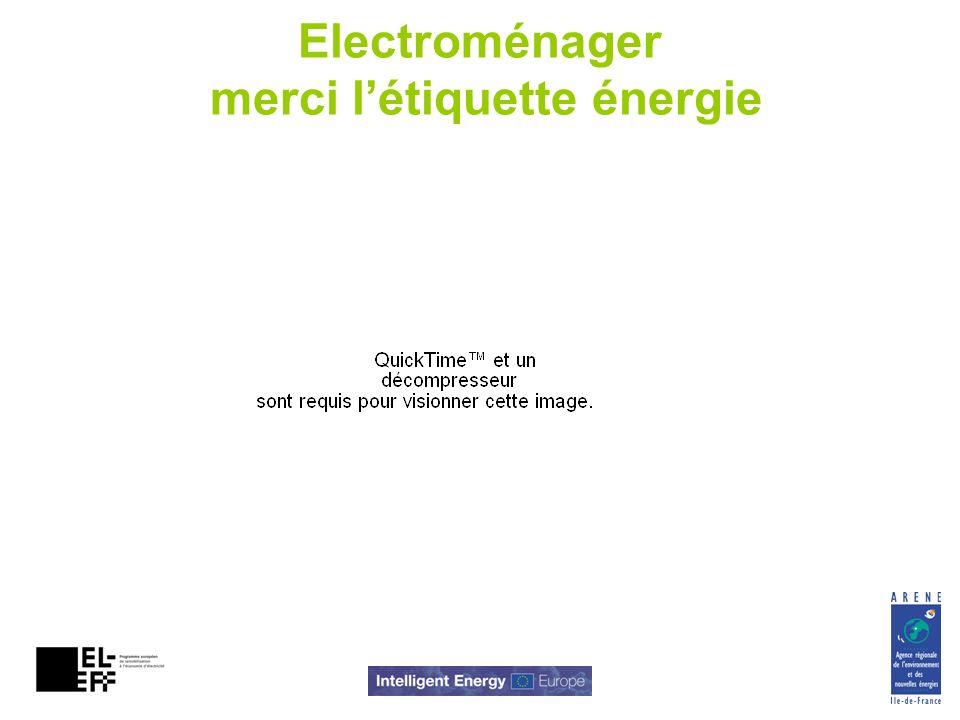 Electroménager merci l'étiquette énergie