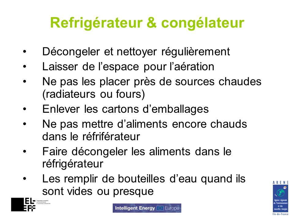 Refrigérateur & congélateur