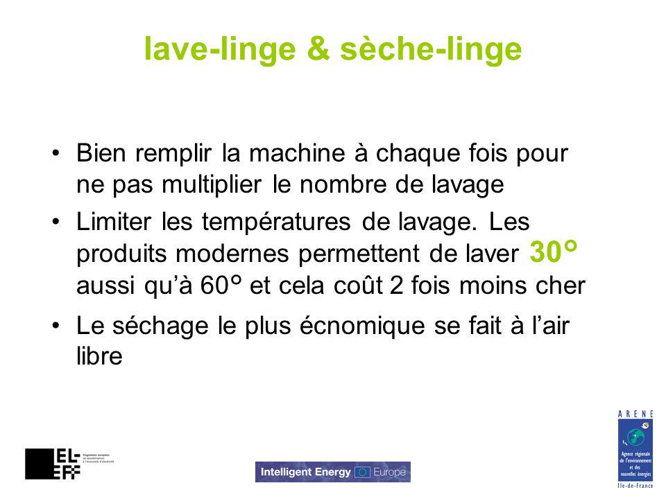 lave-linge & sèche-linge