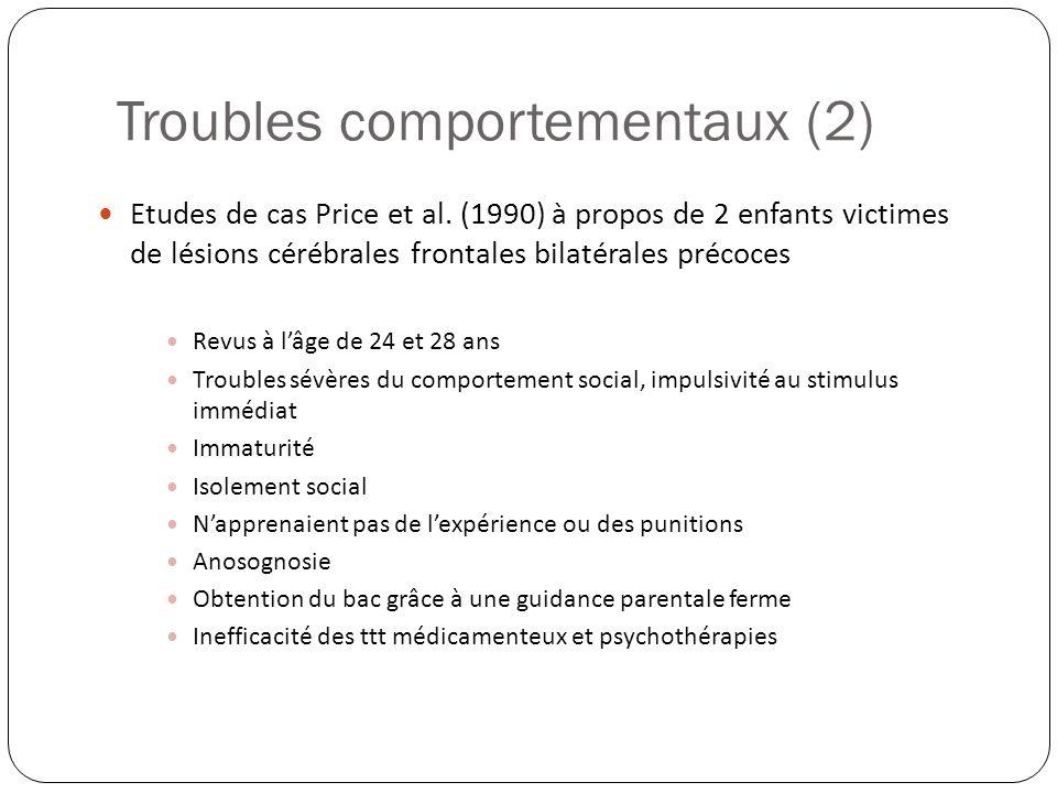 Troubles comportementaux (2)