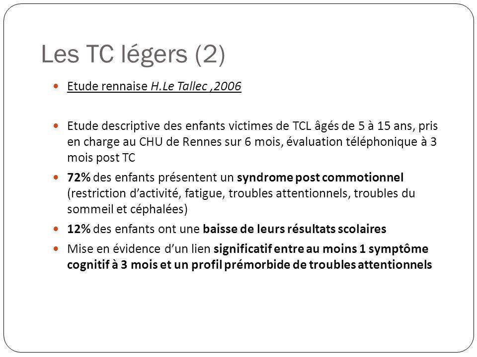 Les TC légers (2) Etude rennaise H.Le Tallec ,2006