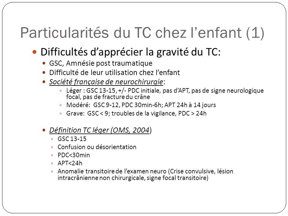 Particularités du TC chez l'enfant (1)