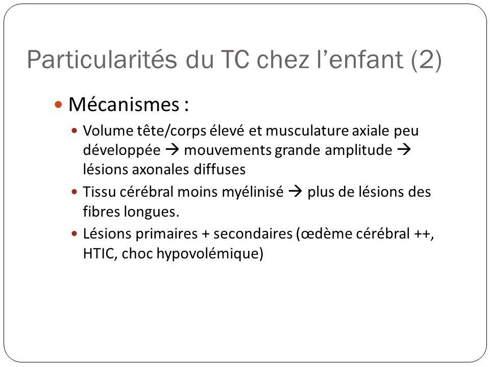 Particularités du TC chez l'enfant (2)