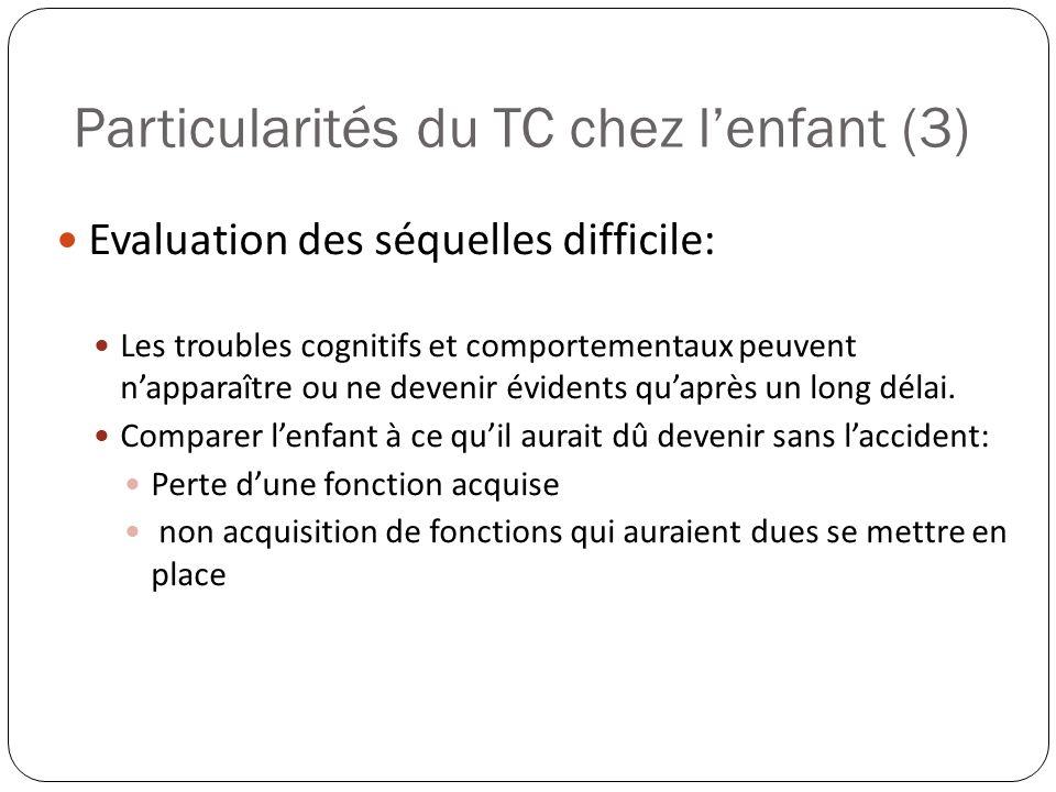 Particularités du TC chez l'enfant (3)