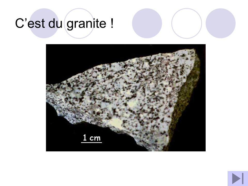 C'est du granite !