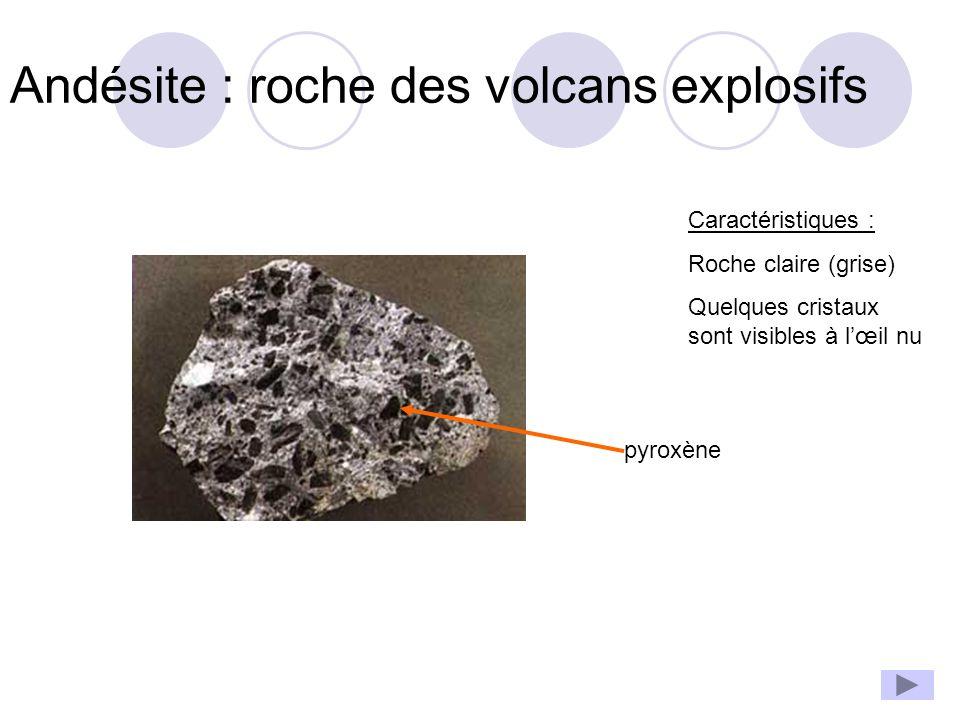 Andésite : roche des volcans explosifs