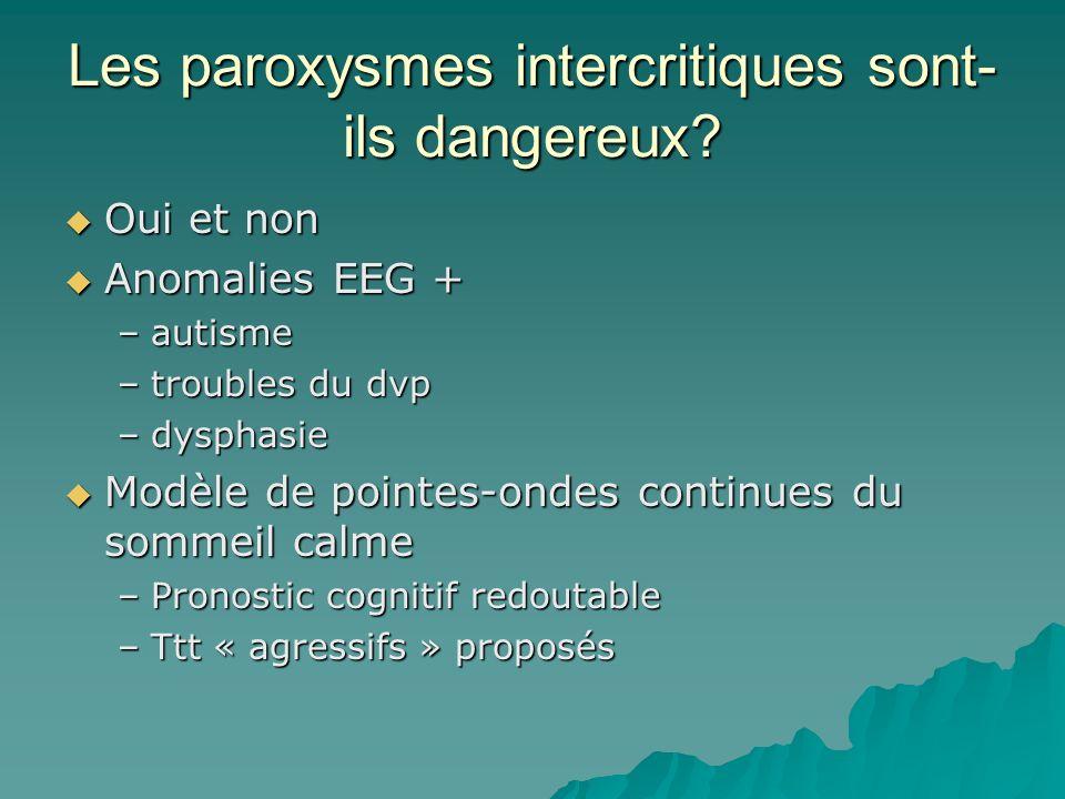 Les paroxysmes intercritiques sont-ils dangereux