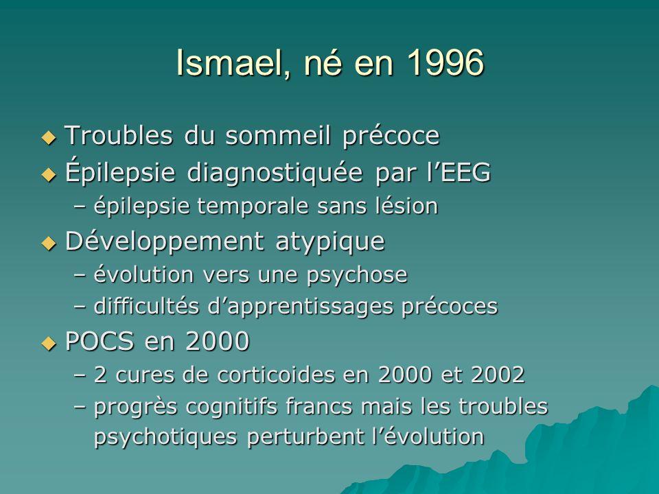 Ismael, né en 1996 Troubles du sommeil précoce