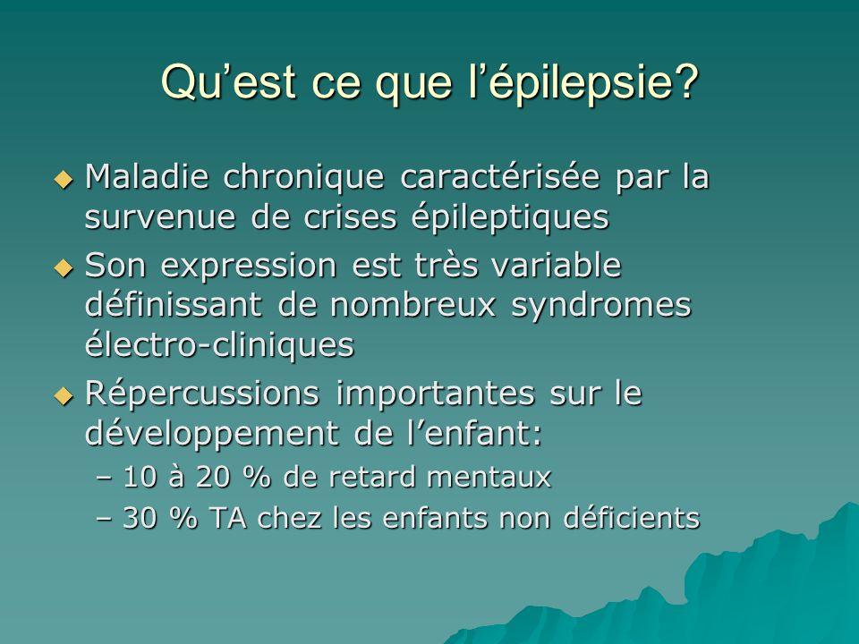 Qu'est ce que l'épilepsie