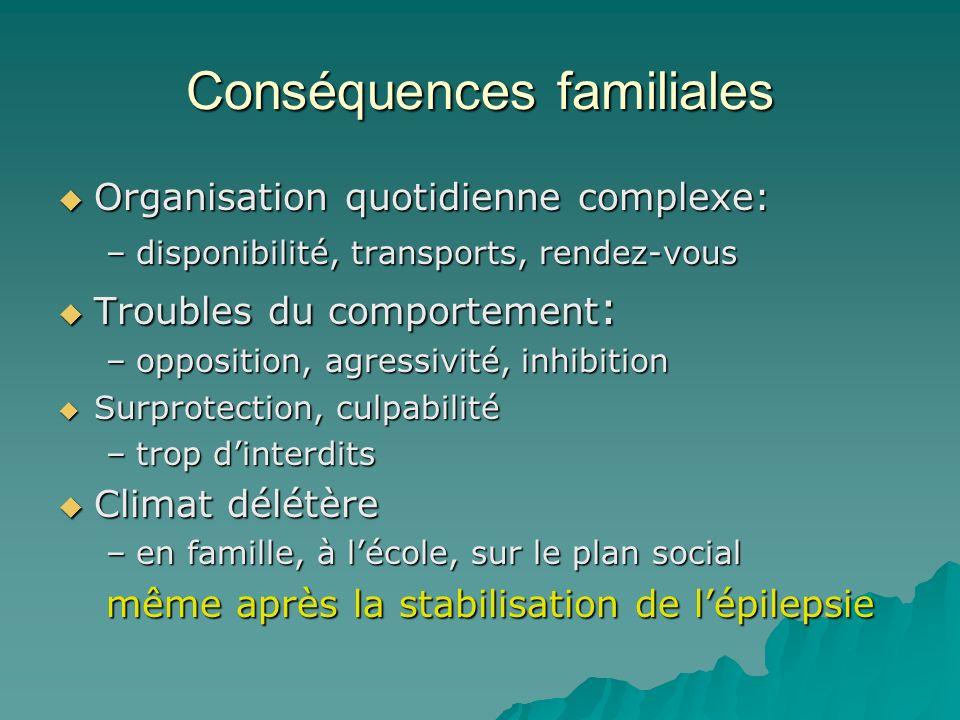 Conséquences familiales