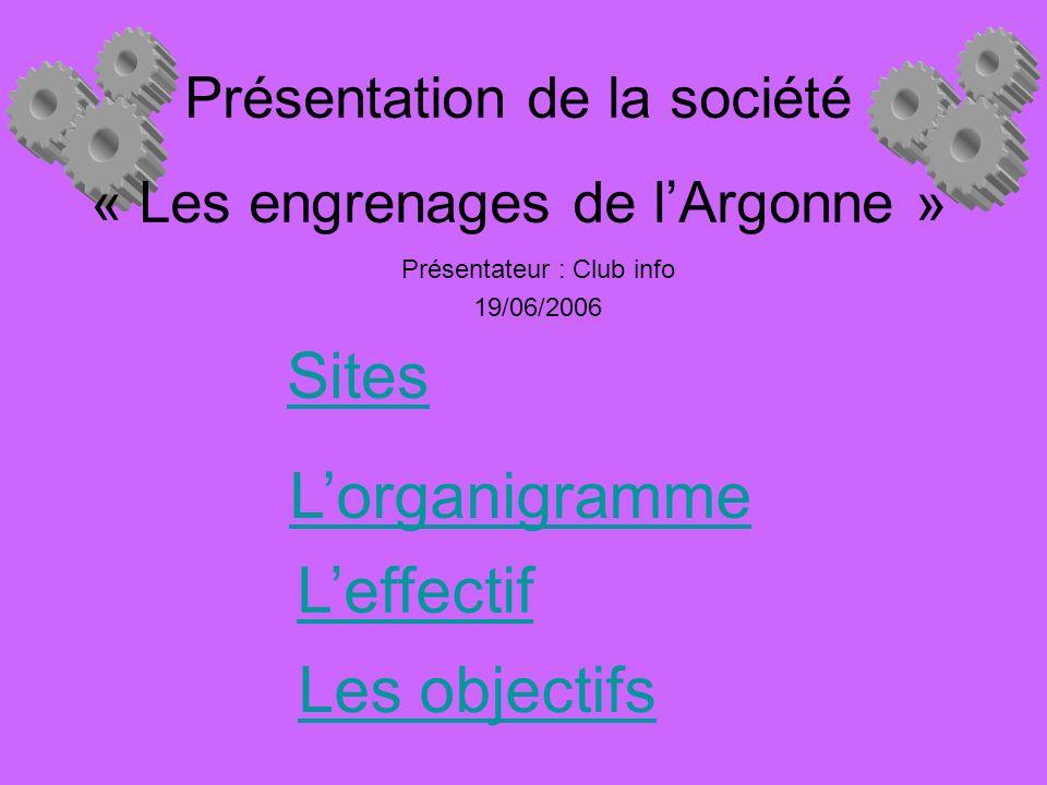 Présentation de la société « Les engrenages de l'Argonne »