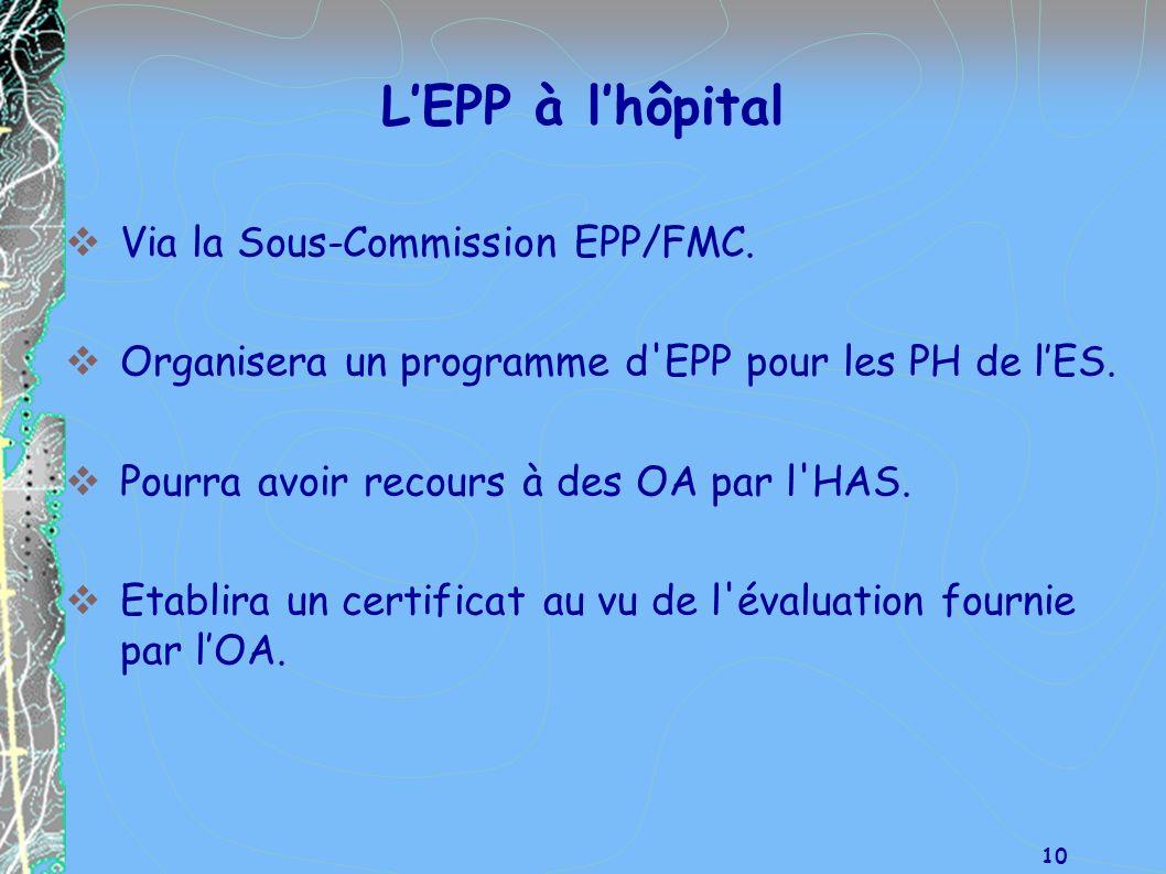 L'EPP à l'hôpital Via la Sous-Commission EPP/FMC.