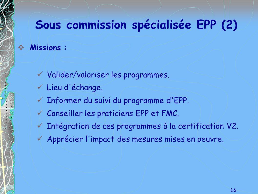 Sous commission spécialisée EPP (2)