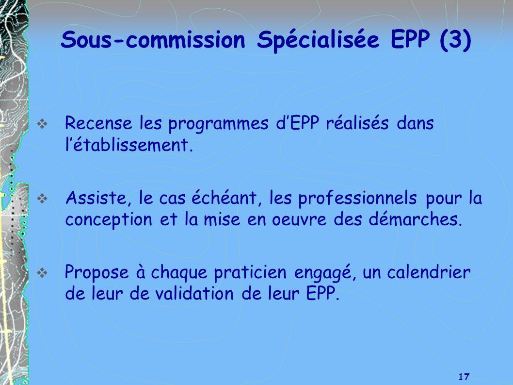 Sous-commission Spécialisée EPP (3)