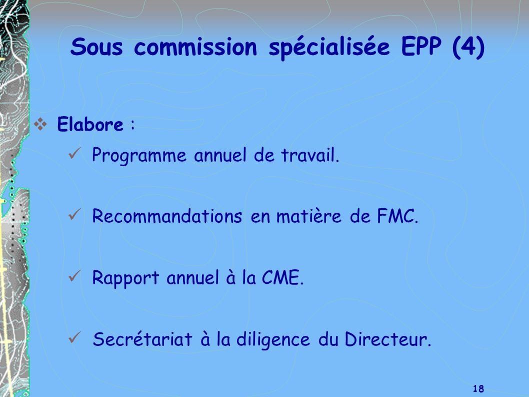 Sous commission spécialisée EPP (4)