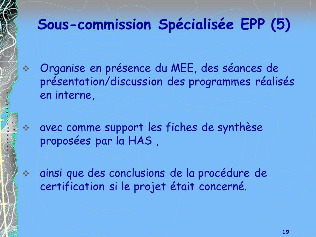 Sous-commission Spécialisée EPP (5)