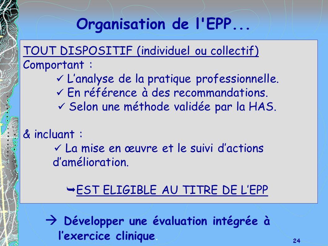 EST ELIGIBLE AU TITRE DE L'EPP