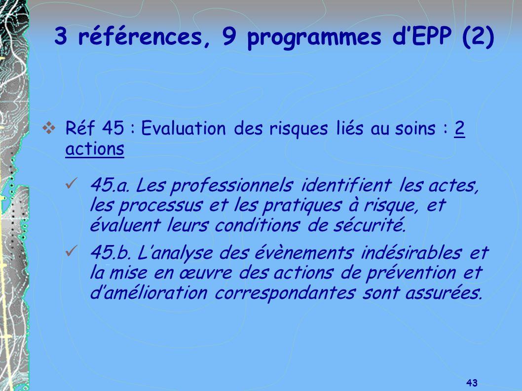 3 références, 9 programmes d'EPP (2)