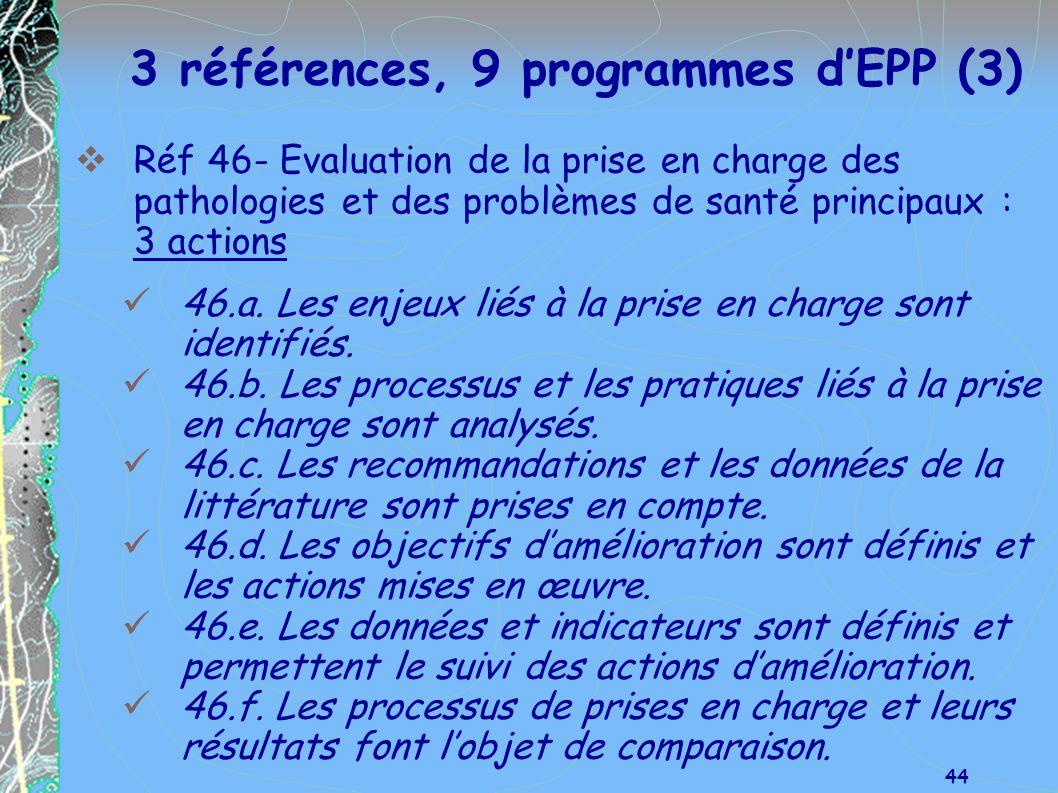 3 références, 9 programmes d'EPP (3)