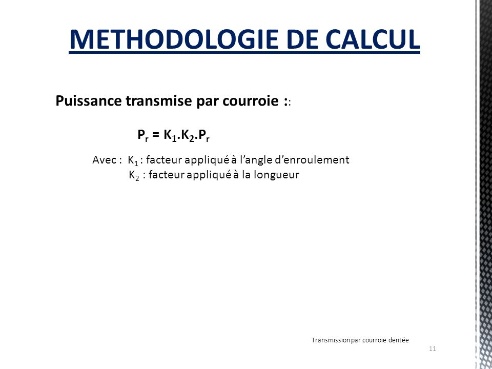METHODOLOGIE DE CALCUL