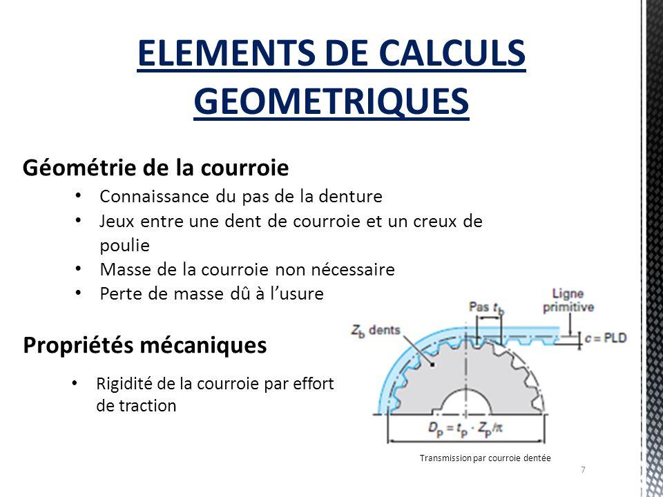 ELEMENTS DE CALCULS GEOMETRIQUES