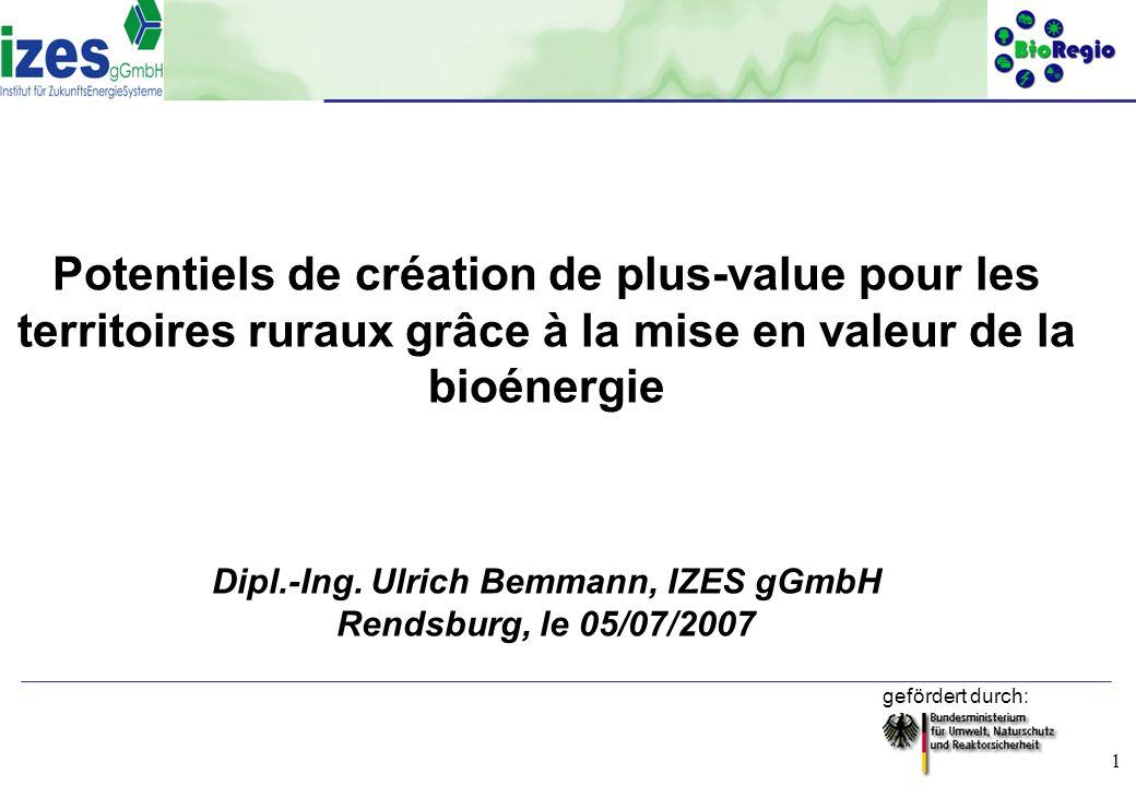 Dipl.-Ing. Ulrich Bemmann, IZES gGmbH