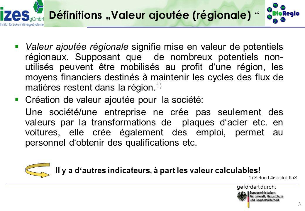 """Définitions """"Valeur ajoutée (régionale)"""