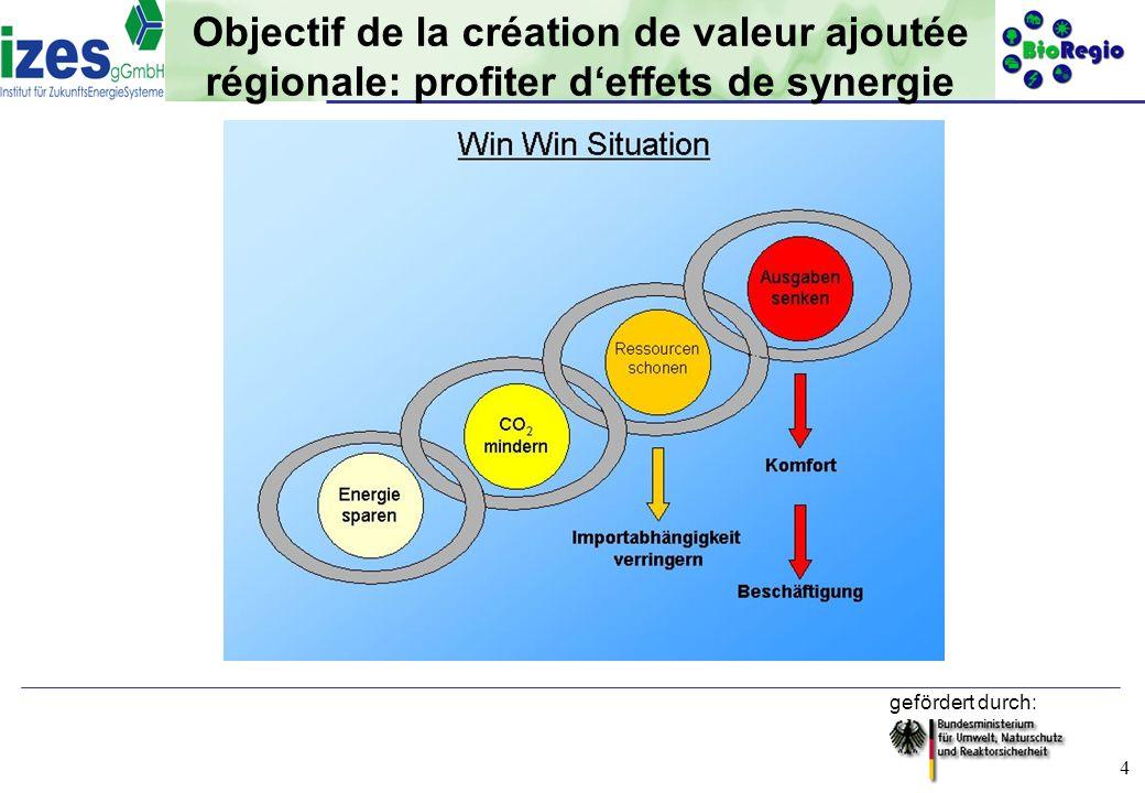 Objectif de la création de valeur ajoutée régionale: profiter d'effets de synergie