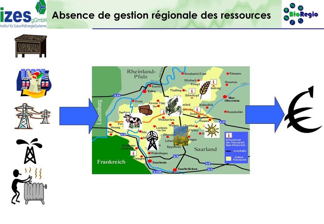 Absence de gestion régionale des ressources
